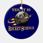 Yes, It Is Rocket Science Double-Sided Ceramic Round Christmas Ornament