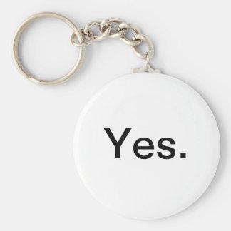 Yes Keychain