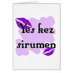Yes kez sirumen - Armenian - I Love You Greeting Cards