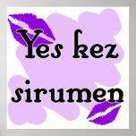 Yes kez sirumen - Armenian - I Love You Print