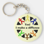 yes logo, Yes!I make a diffence Key Chains