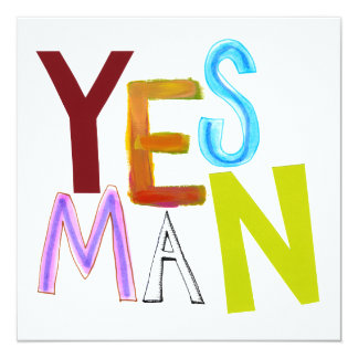 Yes man obedient supporter flunky fun word art card