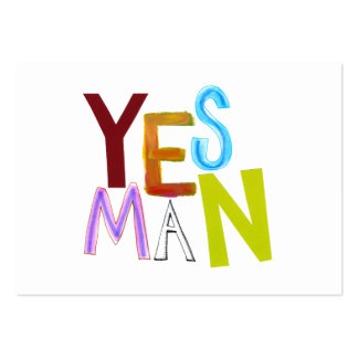 Yes man obedient supporter flunky fun word art large business card