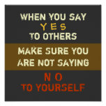 Yes & No ~ 12X12 Poster