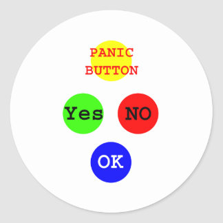Yes No Buttons The MUSEUM Zazzle Gifts Classic Round Sticker