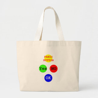 Yes No Buttons The MUSEUM Zazzle Gifts Large Tote Bag