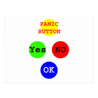 Yes No Buttons The MUSEUM Zazzle Gifts Postcard