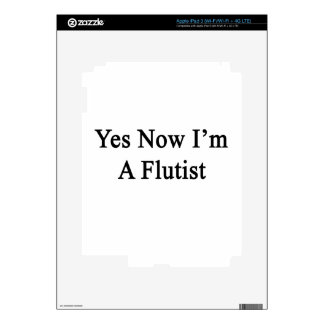 Yes Now I'm A Flutist Decals For iPad 3