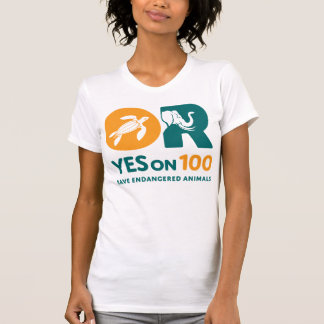 YES on 100! t shirt - women's HQ