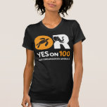 YES on 100! t shirt - women's HQ orange and white