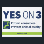 """YES! on 3 lawn sign<br><div class=""""desc"""">Put this sign in your yard to show your support for a YES! on 3 vote on Election Day!</div>"""
