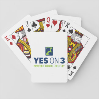 Yes on 3! Playing Cards