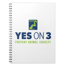 Yes on 3! Spiral Notebook