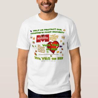 YES ON 522 - vegi teeshirt T-shirt