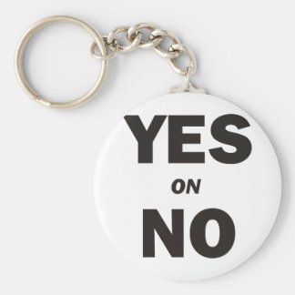 Yes on No No on Yes Basic Round Button Keychain