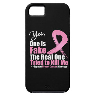 Yes One is Fake Breast Cancer iPhone 5 Covers