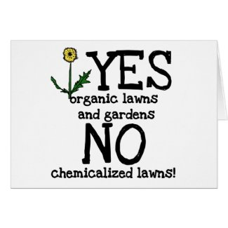 YES Organic NO Chemicals T-shirts and Gifts card