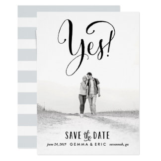 Yes photo save the date card