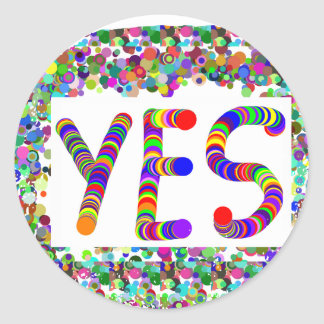 YES : Positive Attitude :  Graphic Text n Border Sticker