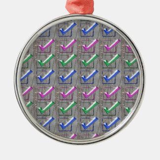 YES positive STROKES pattern NVN173 NavinJOSHI FUN Ornaments
