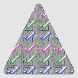 YES positive STROKES pattern NVN173 NavinJOSHI FUN Triangle Sticker