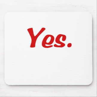 Yes products mouse pad