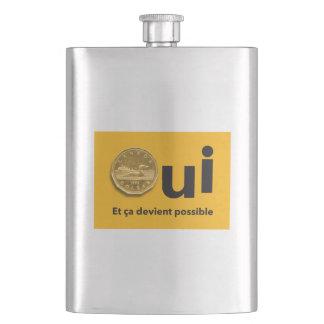 YES Quebec Référendum 1995 posts Dollars Yellow Flask