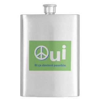 YES Quebec Référendum 1995 posts Paix green Flask