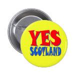 YES Scotland pin badge
