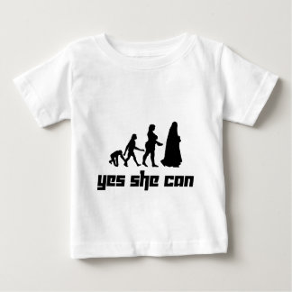 Yes she can baby T-Shirt