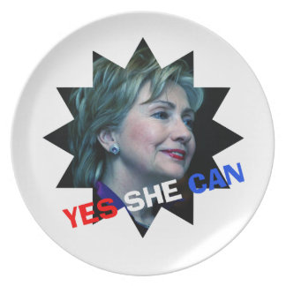 Yes She Can - Decorative Plate - Hillary Clinton