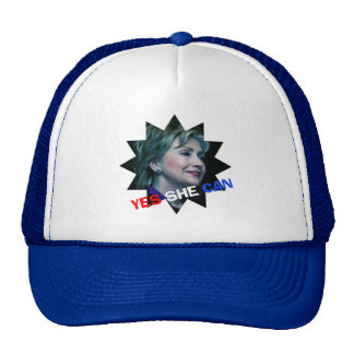 Yes She Can - Hat - Hillary Clinton 2016