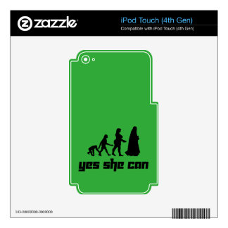 Yes she can iPod touch 4G skins