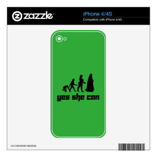 Yes she can iPhone 4 skins
