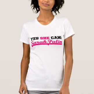 Yes She Can - Sporty Cap Sleeve T-Shirt
