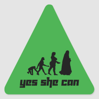 Yes she can triangle sticker