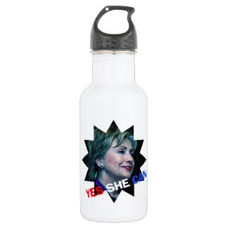 Yes She Can - Water Bottle - Hillary Clinton 2016