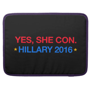 yes,she con. hillary 2016 sleeve for MacBook pro