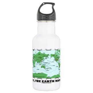 Yes The Earth Moves (Plate Tectonics Earthquakes) 18oz Water Bottle