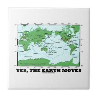 Yes The Earth Moves (Plate Tectonics Earthquakes) Ceramic Tile