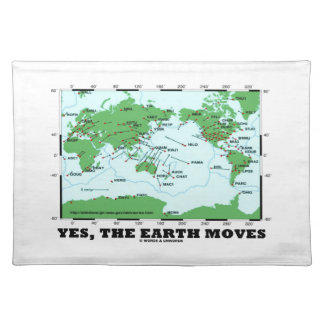 Yes The Earth Moves (Plate Tectonics Earthquakes) Cloth Placemat