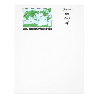 Yes The Earth Moves (Plate Tectonics Earthquakes) Letterhead