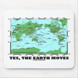 Yes The Earth Moves (Plate Tectonics Earthquakes) Mouse Pad