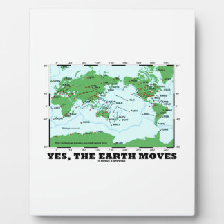 Yes The Earth Moves (Plate Tectonics Earthquakes) Plaque