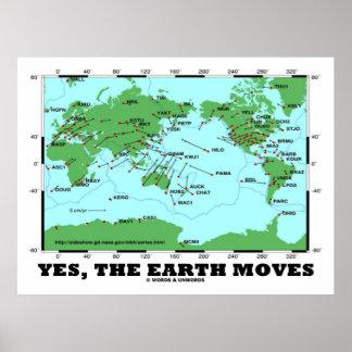 Yes The Earth Moves (Plate Tectonics Earthquakes) Print
