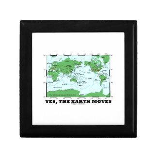Yes The Earth Moves (Plate Tectonics Earthquakes) Trinket Boxes