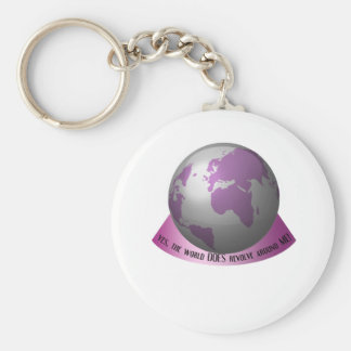 Yes, the world DOES revolve around me Keychain