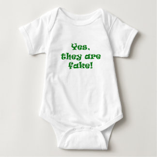 Yes They Are Fake Baby Bodysuit