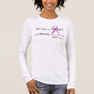 Yes they are fake breast cancer t shirt