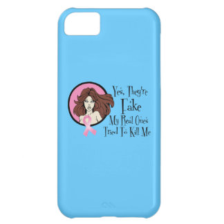 Yes They Are Fake Brunette Breast Cancer Survivor iPhone 5C Covers